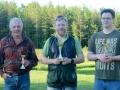 KM Skeet: Från vänster: Lennart Fredriksson trea, Tom Strang etta och Petter Skott tvåa.