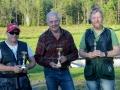 Från vänster: Tvåa Jonny Johansson, segrade gjorde Lennart Fredriksson, och trea Tom Strang